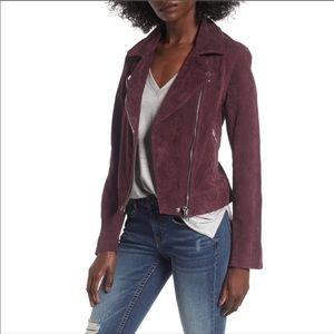 Blank NYC burgundy suede moto jacket L